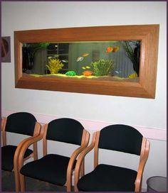 Wall fishtank mounts like a picture