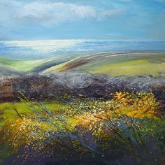 Sue Read - Cornwall seascapes by a Cornish born Painter and Artist First Day Of Spring, Landscape Art, Cornwall, Giclee Print, Coast, Ocean, Contemporary, Acrylics, Drawings