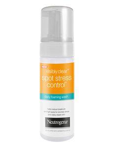 VISIBLY CLEAR Spot Stress Control Daily Foaming Wash | Neutrogena puhdistusvaahto akne epäpuhdas rasvoittuva nuori iho herkälle iholle