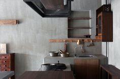 Zen Interiors, Japanese House, Wabi Sabi, Kitchen Cabinets, Shelves, Traditional, Studio, Architecture, Room
