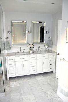 Master Bath Vanity   2 Mirrors, 1 Light Fixture | For The Home | Pinterest  | Master Bath Vanity, Bath Vanities And Vanities
