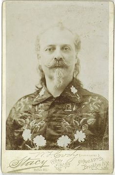 Cabinet Card of Hatless Portrait of Buffalo Bill by Stacy.