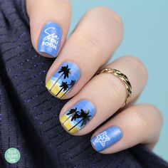 {FrischlackiertChallenge} Summer Lovin Crazy Nail Art, Crazy Nails, Blog, Beauty, Summer, Middle Fingers, Nail Polish, Summer Time, Summer Recipes