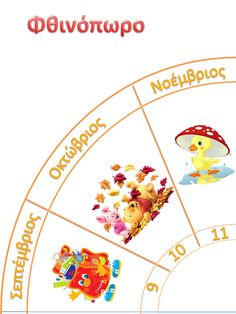 : The Circle of Time Autumn Activities, Learning Activities, Teaching Resources, Greek Language, Speech And Language, Weather Calendar, Class Rules, School Lessons, Science For Kids