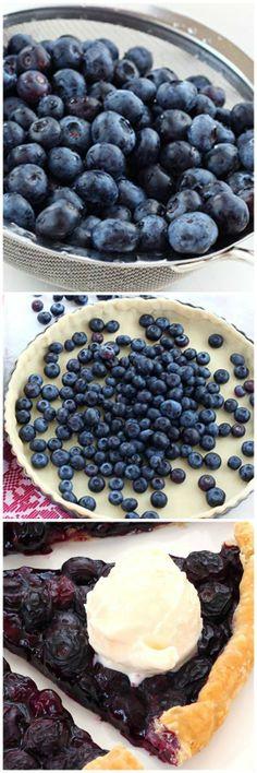 Bake fresh blueberries and pie dough for 30 min = easiest tart ever!