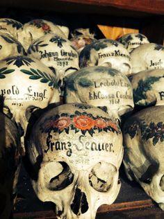 painted skulls #hallstatt