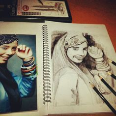 A4 pensel portrait..