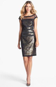 cute sequin sheath dress