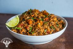 Rice Cooker Spanish Rice with Chicken & Shrimp