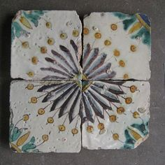 18th century glazed Tunisian terracotta tiles