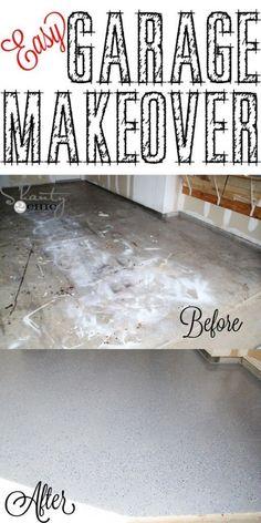 How to coat your garage floor to update the look diy pinterest easy garage makeover and a giveaway solutioingenieria Gallery