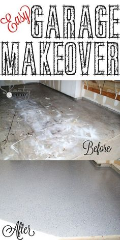 Easy Garage Floor Makeover Project » The Homestead Survival