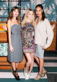 Alexa Chung, Poppy Delevingne and Joan Smalls - model style