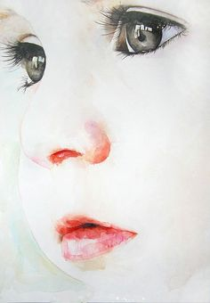 Watercolor painting - with babies and children, it really is what you don't paint that makes the difference.