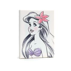 Disneyland Paris The Little Mermaid Canvas Found On Polyvore Featuring Home Decor