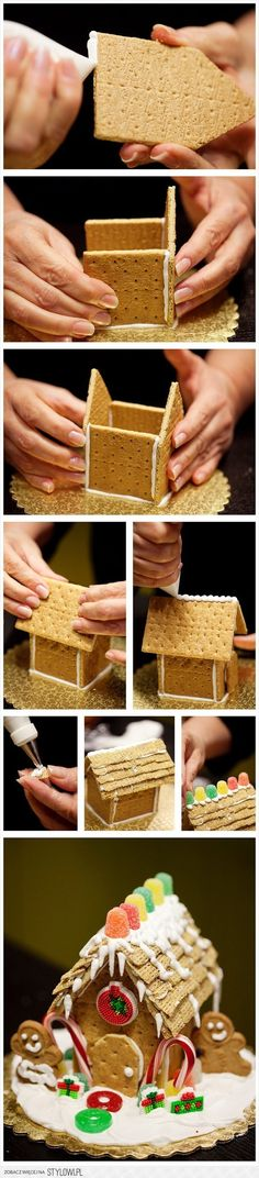 Cute idea for the kiddos to do there own!! gingerbread house :) MINI