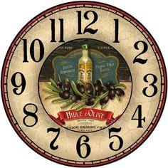 Clock Art, Diy Clock, Decoupage Vintage, Decoupage Paper, Clock Face Printable, Unusual Clocks, Retro Clock, Atc Cards, Wooden Clock