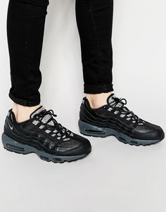 Image 1 of Nike Air Max 95 Trainers Air Max 95, Nike Air Max, All Black Sneakers, Trainers, Kicks, Asos, Image, Clothes, Fashion