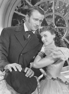 Paulette Goddard and John Wayne in '' Reap the Wild Wind'' 1942