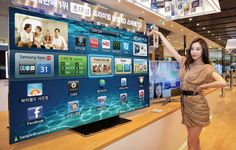 If you don't mind a TV the size of a garage door, Sharp's 90-inch LED TV ...