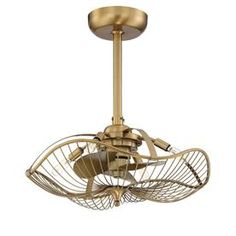 Attain a stunning appeal to the ceiling with Fifth and Main Lighting Auri Indoor Aged Brass Ceiling Fan with Light and Remote Control. Gold Ceiling Fan, 3 Blade Ceiling Fan, Ceiling Fan Chandelier, Best Ceiling Fans, Ceiling Fan With Remote, Ceiling Art, Chandeliers, Ceiling Fan Makeover, Metal Fan