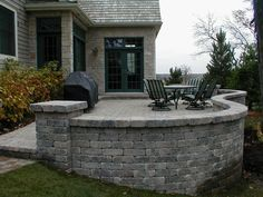 Patio Retaining Wall, Lake Forest