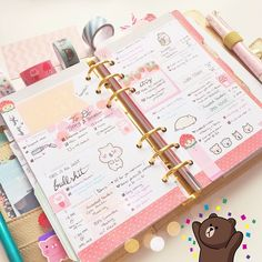 Day 14 & 15: A Look At Last Week & Doodle - Psh. Please. I always doodle on my weeks  (Still thinking of how much I want a little dumpling of a hamster in my life! ) #prettyplannerapril #aprilplannerchallenge