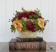Artificial Flower Arrangement Faux Flowers Floral by PinesNTwines