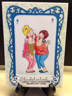 Spellbinders Timeless Rectangles die, Fancy Framed Tags 2 die, Liquid Pearls, Art Impressions Girlfriend stamp