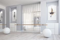 Home Studio Ballet, Yoga Studio Home, Pilates Studio, Studio Workouts, Yoga Studio Design, Interior Design Studio, Design Interiors, Tanzstudio Design, Design Ideas