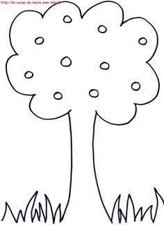 1maman2filles coloriage arbre 2