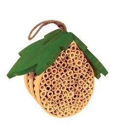 Leaf Top Bee House #zulily #zulilyfinds