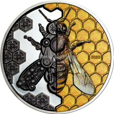 Flying Insects, Bee Tattoo, Commemorative Coins, World Coins, Mongolia, Coin Collecting, Silver Coins, Evolution, Clock