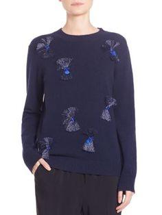 3.1 PHILLIP LIM Fringe-Applique Sweater. #3.1philliplim #cloth #sweater