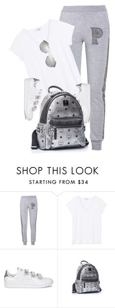 """""""School Look"""" by monmondefou ❤ liked on Polyvore featuring Philipp Plein, adidas, Burberry, grey and schooloutfit"""