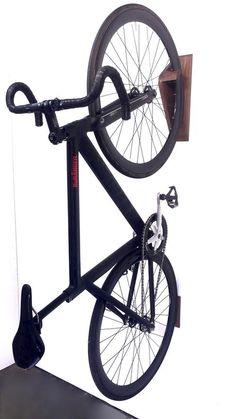 The Dan pedal hook is a horizontal bike storage system. Bike wall mount for all bikes. Bike Storage Systems, Kayak Storage Rack, Bicycle Storage, Wall Storage, Garage Storage, Storage Ideas, Bike Hooks, Bike Hanger, Bike Shelf