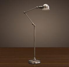 Atelier Task Floor Lamp Patina Nickel