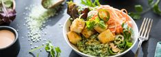Vietnamese Tofu Bowl with Bamboo Rice and Pickled Vegetables