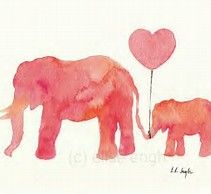 Image result for mom and baby animals watercolor