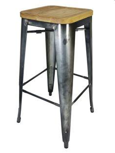 New-Replica-Tolix-Metal-Bar-Stool-Xavier-Pauchard-76cm-Gunmetal-Ash-Timber-Seat Timber Furniture, Outdoor Furniture, Timber Bar Stools, Ash, Home Decor, Wood Furniture, Grey, Homemade Home Decor, Interior Design
