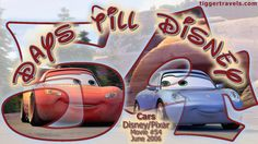 Days till Disney: 54 days Cars Movie # 54 - June 2006 -  #TTDAVCDN Count down to YOUR next Disney vacation at: http://www.tiggertravels.com/pl_1057_Disney%20and%20Pixar%20themed%20Vacation%20Countdown%20numbers.htm  #disneycountdown #vacationcountdown  #Disney #vacation #TiggerTravels #TiggerTravelsSite #TiggerTravelsDotCom  #TiggersTravels
