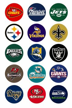 Folie du Jour Bottle Cap Images: NFL National Football League Free digital bottle cap images