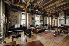 An industrial style loft apartment comprised of 130 square meters of living space was designed by interior designer Lev Lugovskoy, sited in Moscow, Russia. Industrial Apartment, Industrial Interiors, Industrial House, Industrial Style, Industrial Design, Industrial Decorating, Urban Industrial, Industrial Furniture, Vintage Industrial