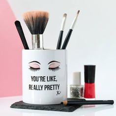 Cute Mug Makeup Brush Holder For Teens