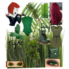 Modern Day Poison Ivy! by that-goth-girl on Polyvore featuring WearAll, Dsquared2, Dr. Martens, Dressage Collection, CellPowerCases, Crate and Barrel, Nearly Natural, Tommy Mitchell and modern