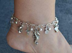 Anklet Silver Anklet Charm Anklet Charms Anklet Boho by LKArtChic