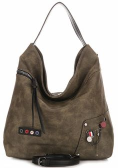 6a24784c00ee4 Torba boho David Jones Ciemna Khaki 125zl David Jones