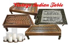 Vintage Indian Table by mogul-interior on Polyvore featuring interior, interiors, interior design, home, home decor, interior decorating and vintage