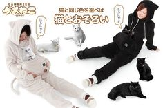A onesie that allows your cat to be with you at all times.