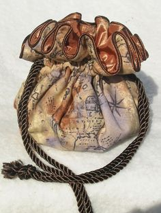 Old World Map  Jewelry Pouch for travel